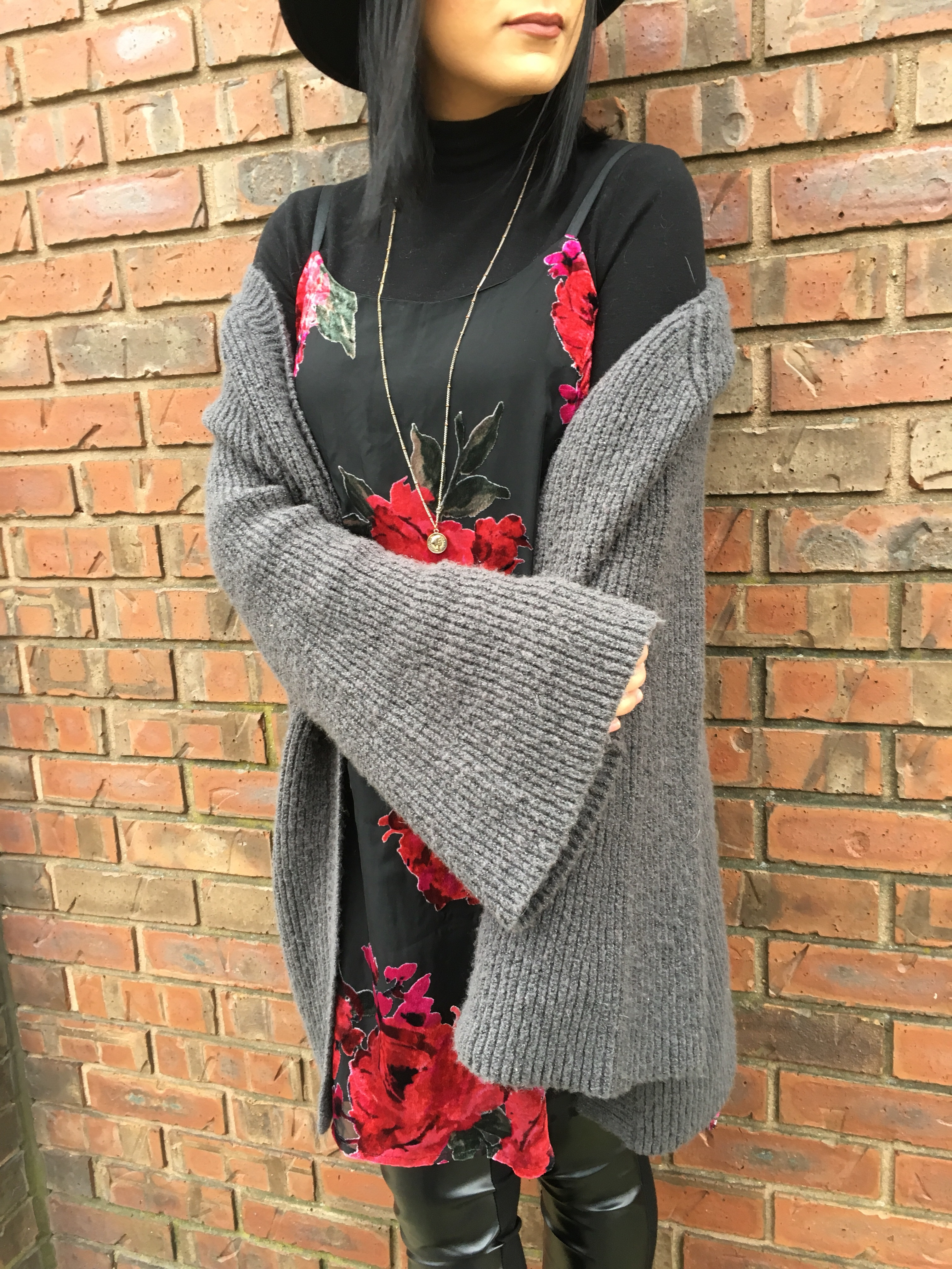 a1795ea90129 I originally planned to wear this with fishnet stockings, but it was  freezing this day and your girl does not sacrifice warmth for style… power  to you if ...